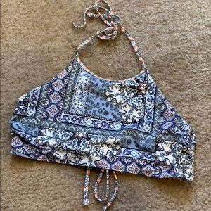 (Reversible) halter swim suit top